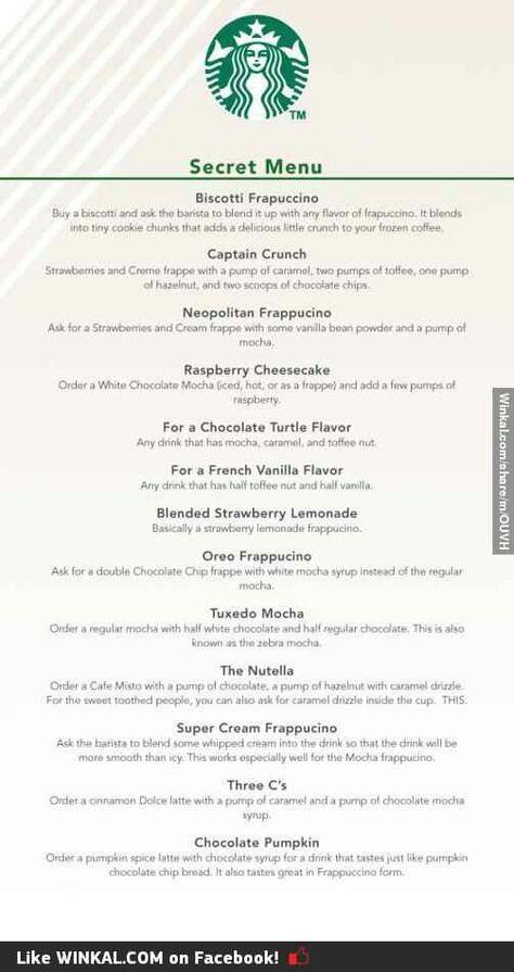 Starbucks secret menu