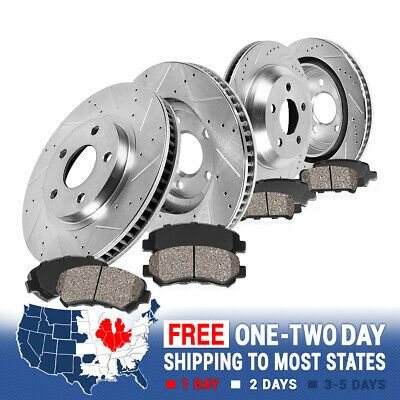 Rear Kit Performance Drill Slot Brake Rotors /& Ceramic Pads For Mercedes Benz
