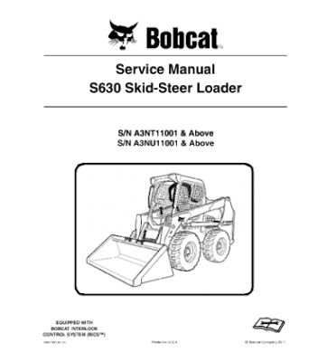 Bobcat S630 Skid Steer Loader Series Service Repair Manual Instant Download Repair Manuals Skid Steer Loader Bobcat