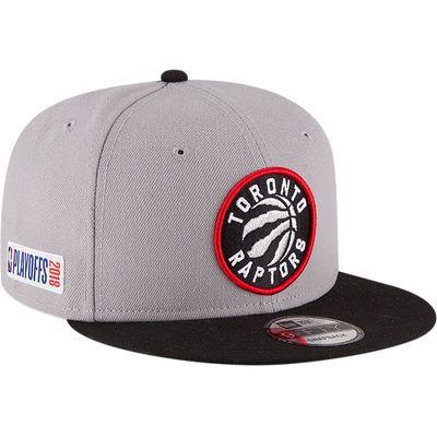 new arrivals best shoes super popular Men's New Era Gray/Black Toronto Raptors 2018 NBA Playoffs Two ...