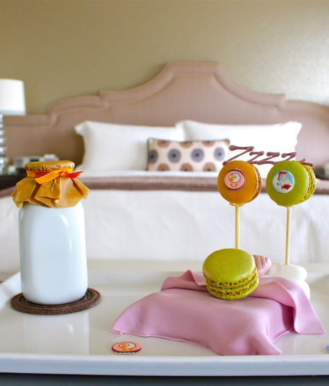 """Forget the cookies - at @Four Seasons Hotel Los Angeles at Beverly Hills we prefer """"Macarons 'n' Milk."""""""