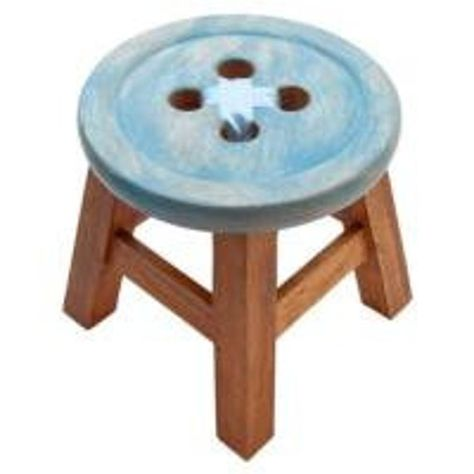 """""""Plenty more exciting products on my website: \""""www.xtrandmore.store\"""" Why not take a look! Child's Solid Wood \""""Button\"""" Stool, Handcrafted. Kid's wooden stool with a Pink or Blue Button with ribbon detail seat. Made from sustainable acacia wood. Choose from: Pink or Blue. Popular for children's bedrooms. Size: Height 24cm x Depth 25cm. This item is handcrafted. WARNING: This item is for decorative purposes only, it is not suitable for children. This item is not a toy and should not be used in"""