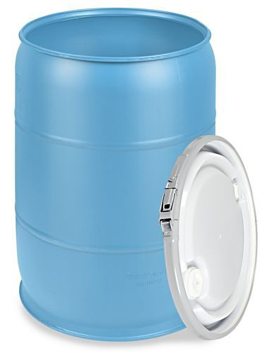 Plastic Drum With Lid 55 Gallon Open Top Blue S 9945blu Plastic Drums 55 Gallon Drums For Sale