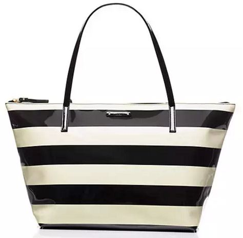 Love this kate spade striped tote - on sale for $69!