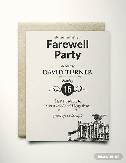 Free Farewell Party Invitation Template Inspirational Free Vintage Farewell Party Invitati Farewell Party Invitations Party Invite Template Invitation Template