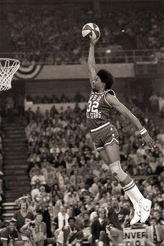 Julius Erving Size: 11 x 14 New York Nets 1976 Slam Dunk Contest Action Photo Dr. J
