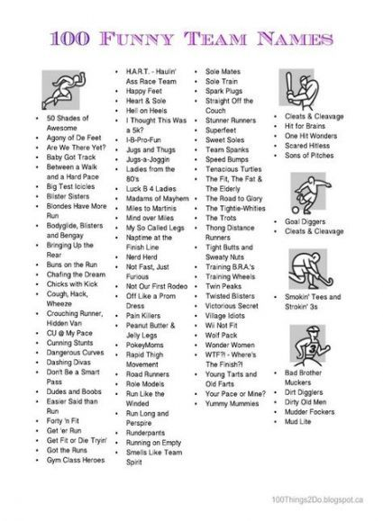 Fitness Challenge Group Names Exercise 27 Ideas Group Names Ideas Workout Challenge Fitness Team Names