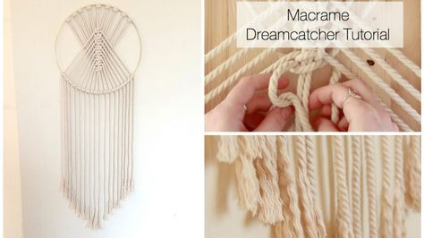 How To Make A Macrame Wall Hanging Dreamcatcher Tutorial Dream Catcher Tutorial Macrame Wall Hanging Diy Macrame Wall Hanging Tutorial
