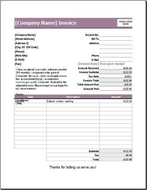 letter refunding invoice DOWNLOAD at http\/\/wwwtemplateinn\/11 - handyman invoice template