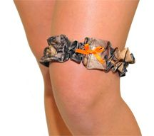 browning baby girl stuff | Mossy Oak Garter with Hunter Orange Ribbon