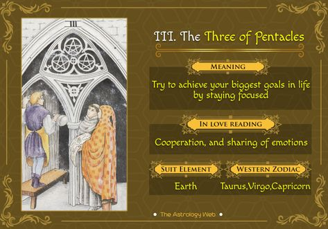 The Three of Pentacles Tarot | The Astrology Web