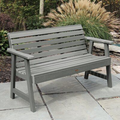 Trigg Synthetic Plastic Garden Bench Size 32 H X 52 W X 25 D