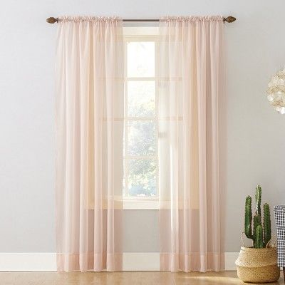 No 918 Emily Sheer Voile Rod Pocket Curtain Panel Panel