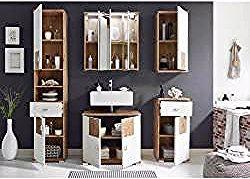 Xora Badezimmer Weiss Braun Glas 146x190x40 Cm Xoraxora In 2020 Bathroom Medicine Cabinet Home Decor Bathroom