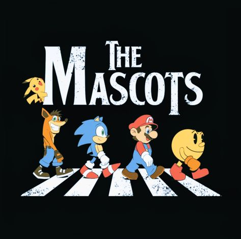 Pikachu, Crash Bandicoot, Sonic the Hedgehog, Mario & Pac-Man - The Mascots