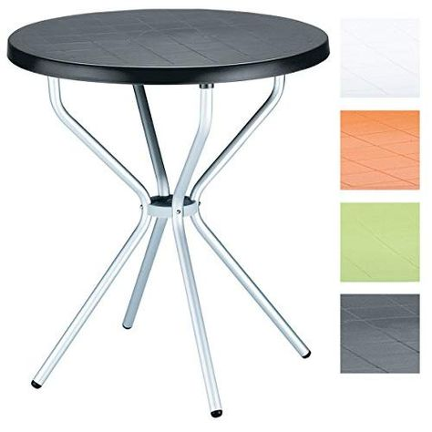 Clp Table De Bistro Elfo Ronde O 70 Cm Table De Balcon Hauteur 72 Cm Plastique Aluminium Resistante Aux I Table De Balcon Mobilier De Salon Table A Manger