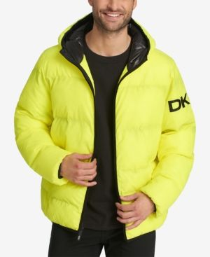 Men/'s Thick Water Resistant Puffy Puffer Hooded Hoodie Jacket Warm Quilted Coat