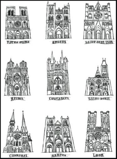 Middle School Gothic Cathedral Art Lesson For Kids Leah Newton Art Art History Art Handouts Art Lessons
