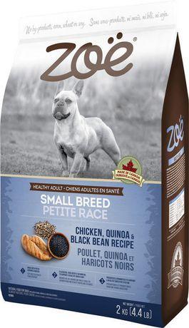 Zoe Zo Small Breed Dog Food Chicken Quinoa Black Bean 5kg Dog
