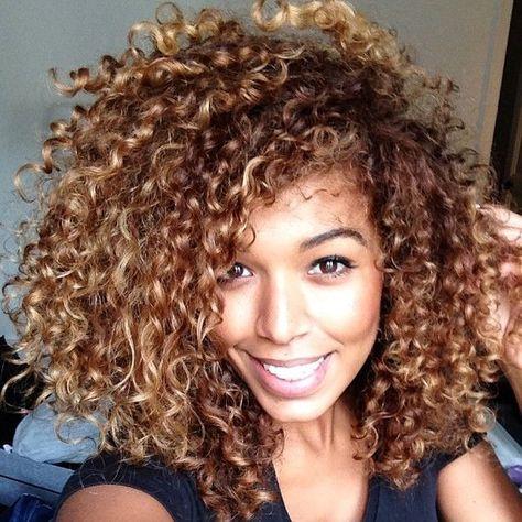 Honey Brown Hair Color Honey Brown Hair Natural Hair Styles Curly Hair Styles