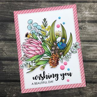 Greeting Card Australiana 'for You' General Wattle