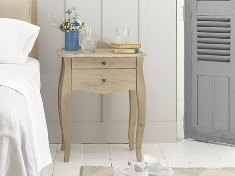 Eloise Bedside Table Beautiful French Antique Style Side Table