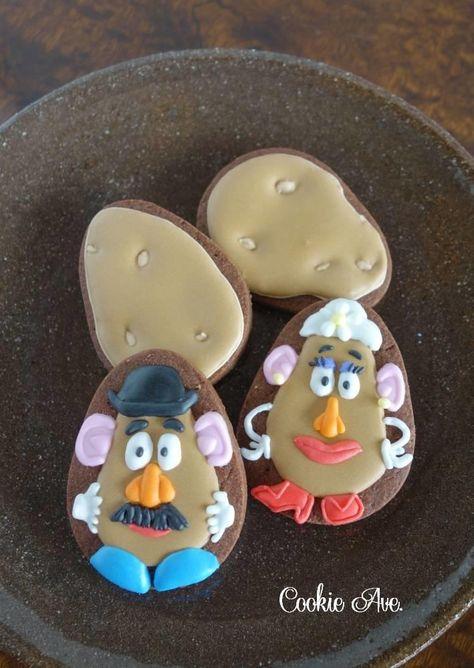 Potato Toy Story Cookies Potato Cookies Sugar Cookies Decorated