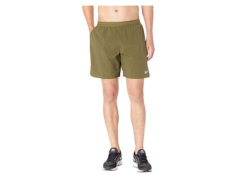 25796173fb714 Nike Flex Distance 7 Lined Running Short (Olive Canvas Campfire Orange) Men s  Shorts. Settle into a mile-eating stride with this performance running short .