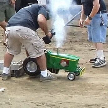 Click To See Gif Mini Tractor On Funny Goblin The Best Creative Humor Community To Search And Share Your Favor Tractor Pulling Truck And Tractor Pull Tractors