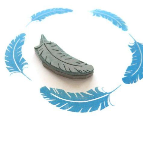 Una pluma en su sello de goma Tapa sello sello de por creatiate