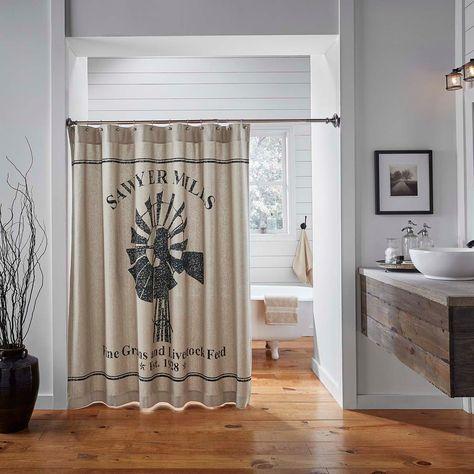 Sawyer Mill Windmill Shower Curtain Tan Shower Curtain