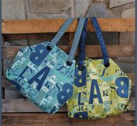 """McKenzie Bag Pattern by Abbey Lane Quilts at KayeWood.com. THE """"McKenzie"""" BAG is a great new bag. It has a great shape from the outside and when you open it up on the inside, it is huge. Tons of storage and pockets. It has fun accents on the outside and a surprise on the inside. """"17 x 21"""" http://www.kayewood.com/item/McKenzie_Bag_Pattern/3782 $10.00"""