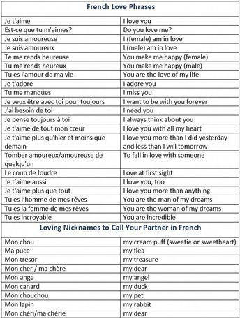 How To Say I Love You In French French Love Phrases Loving