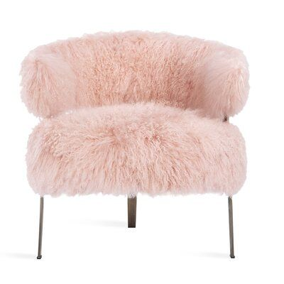 Blush Pink Bedroom Chairs Lovely Adele Lounge Chair In Blush Sheepskin Design by Interlude Home In