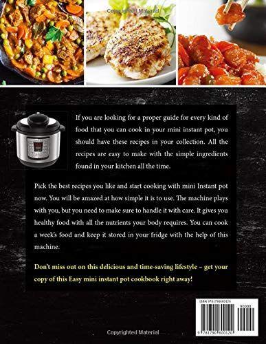 Mini Instant Pot Cookbook 500 Delicious Instant Pot Mini Pressure Cooker Recipes Made Easy and Fast For Mini Instant Pot 3 Quart Models