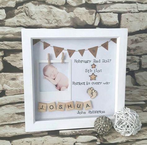 Neues Baby Geschenk, Geschenk für neues Baby, Baby Geburt Geschenk, personalisierte Baby Scrabble Art Frame, neues Baby,  #geburt #geschenk #neues #personalisierte