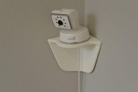 Peel N Stick Angled Corner Shelf for Video Baby Monitors on Etsy, $20.00