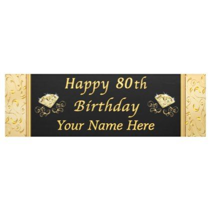 Personalized Happy 80th Birthday Banner Zazzle Com 50th