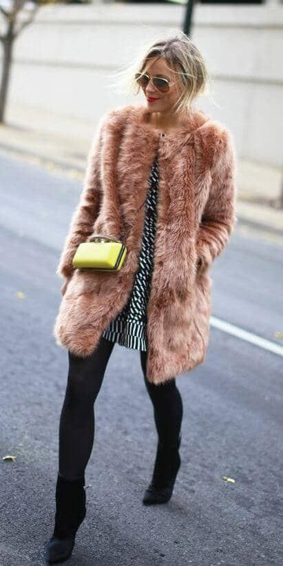 Fur faux coats closet ideas women fashion outfit clothing style apparel camel faux fur coat for your holiday look