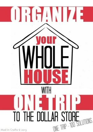 #Organize Your House with One Trip to the Dollar Store {Organizing} - DollarStoreHouse.com