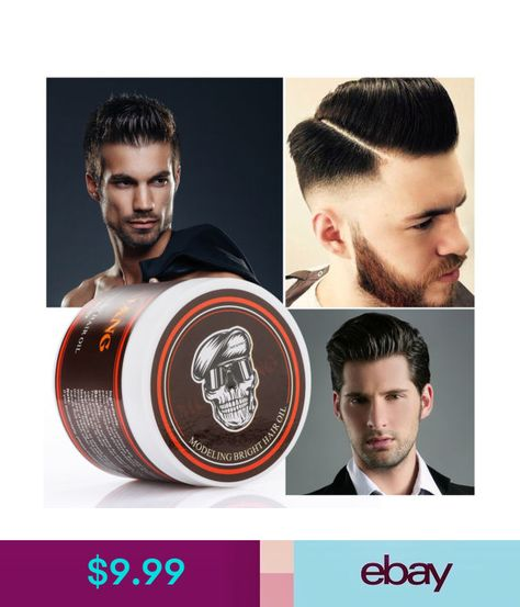 b44425c71d1 Styling Products Mens Strong Hold Firm Pomade Retro Modeling Hair Oil Hair  Styling Gel Wax 120G  ebay  Fashion