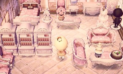 Finished My Pink Rococo Room Animal Crossing Animals Qr