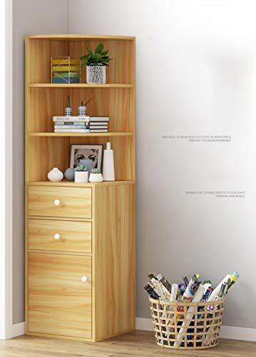 Corner Cabinet Corner Cabinet Simple Modern Bookshelf Floor Standing Bookcase Simple Economical Rack Livin Living Room Corner Room Corner Dorm Room Inspiration