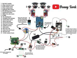 [DHAV_9290]  Portable Bluetooth + WiFi Speaker Build in 2020 | Wifi speakers, Diy  bluetooth speaker, Bluetooth speakers diy | Wiring Diagram For A Boombox |  | Pinterest