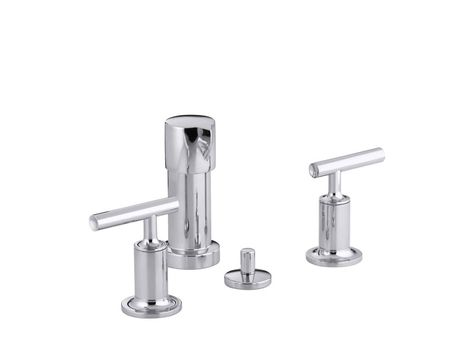 Purist Bidet Faucet With Vertical Spray And Lever Handles Bidet