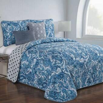 Wardell Reversible Quilt Set Quilt Sets Blue King Quilt Sets Quilt Sets
