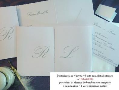 Partecipazioni Matrimonio Rettangolari.Partecipazione Di Nozze Rettangolari A Due Lembi Promozione