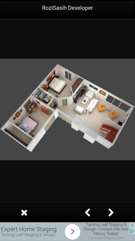 3D small house floor plans under 1000 sq ft #houseplan #floorplan
