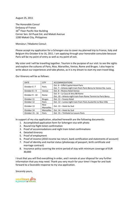 cover letter for schengen visa application the french ...