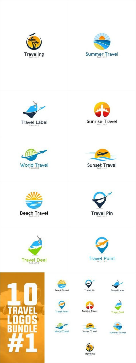 10 Travel Logo Bundle #1